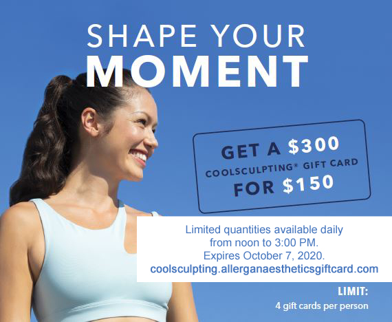 CoolSculpting Giftcard Promotion